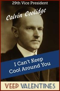Calvin Coolidge Veep Valentine