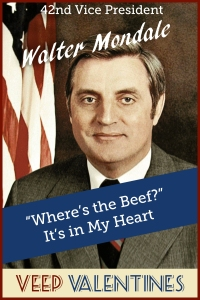Walter Mondale Veep Valentine
