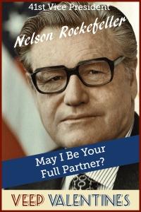 Nelson Rockefeller Veep Valentine